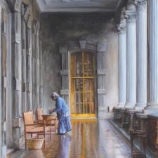 David Shepard, Lady in Blue, Inside British Castle 20x26