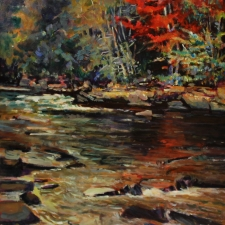 Ox Tounge Rapids Red Tree 16 x 20