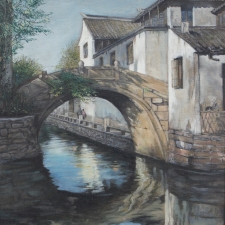 Lu-Bridge in the Village-13x17 12