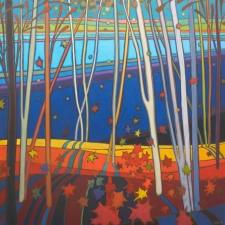 Kulig-Autumn Birch on Doe Lake-36x36