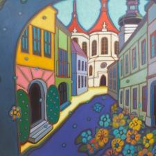 Kulig-Sunlit Church Through the Archway (Prague)-30x40