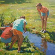 Douglas Edwards-Catching Frogs-36x48