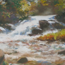 Douglas Edwards-Gatineau Waterfall-18x24