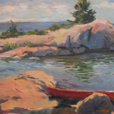 Douglas Edwards-Red Canoe-12x16