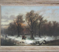 Charles Raffel, oil on canvas, Kensington Garden 1873, 55