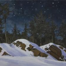 Sevier-Algonquin-Winter-Night-12x18
