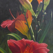 Sevier-Three-Red-Lilies-60x30