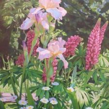 Iris and Lupine