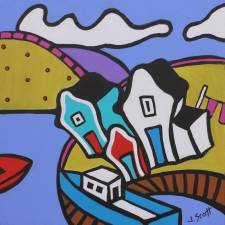 Fishing Village Newfoundland 16x16