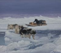 on the ice bridge