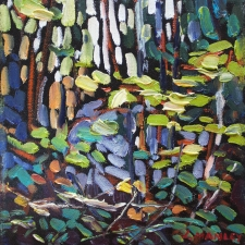 Manley-Woodland Yellows-8x8
