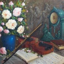 Keyhani-Roses+Violin-22x28