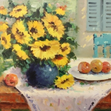 keyhani_sunflowers_in_blue_vase_24x30_oil_web
