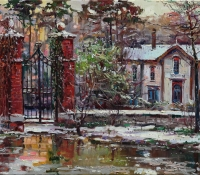 Old Gates in the Spring