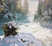 Winter Ragged Falls - Gerry Sevier