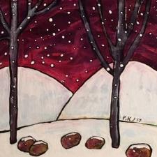 Paul Keskish Winter Night #2 6x6