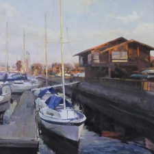Boats in Harbour (portrait)