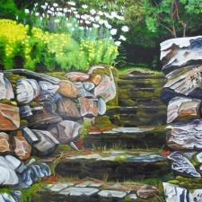 Curtis-Old Garden Stairs-30x40