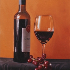 Stuart Curtis, Red Grapes 12x16