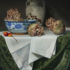 Celeriac Root and Chinese Bowl 16X20