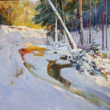 Winter Bright Vladimir Ribatchok oil on canvas