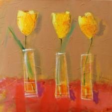 Yury-Darashkevich-Three-Tulips-30x40