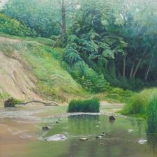 Boots-Green-LandscapeRiver-27x21