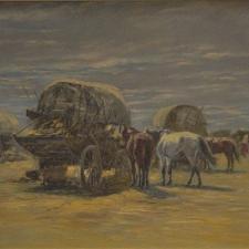 Erdossy-Bela-Harvesting-in-Hungary-12x15