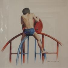 Grant-Hillman-Boy-on-Climber-14x17