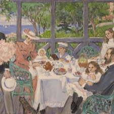 Rowat-Evelyn-Tea-Time-in-Provence-with-Suitor-24x36