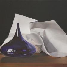 Strycharz-Purple-Glass-and-Paper-20x30